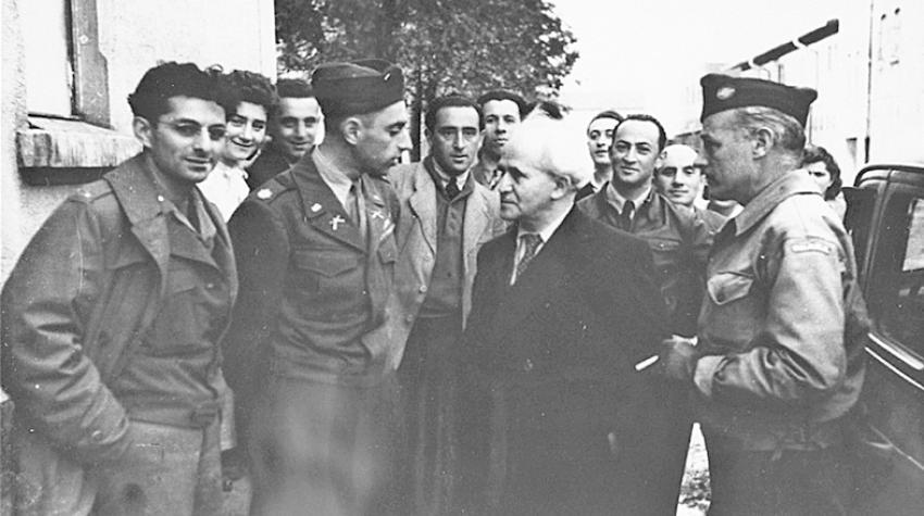 David Ben Gurion in Landsberg dem damals grössten jüdischen DP-Lager in der US-Zone